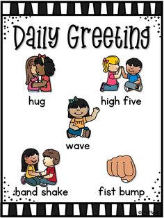 Daily Greeting Poster In my Pre-K classroom, every morning when on the carpet , . Daily Greeting Poster In my Pre-K classroom, every morning when on the carpet , we greet each of our friends. Classroom Welcome, Welcome To School, Classroom Rules, New Classroom, Special Education Classroom, Kindergarten Classroom, Kindergarten Activities, Responsive Classroom, First Grade Classroom