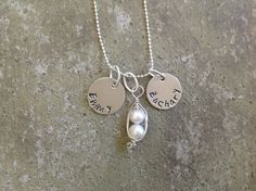 Two Peas In A Pod Personalized Necklace by KottageKreations, $35.00