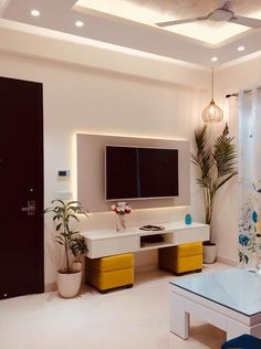 Find home projects from professionals for ideas & inspiration. Residence at Astaire Gardens, Gurgaon by INTROSPECS Living Room Decor Styles, Best Living Room Design, Living Room Designs, Home Projects, House Design, Interior Design, Gardens, Design Ideas, Screen Wallpaper