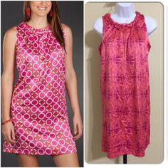 Tracy Negoshian Dress Size S Get the look!.                                        Tracy Negoshian.                                     Women's Dress Size S Pink & Coral Colors Braided Collar Buttons In Rear 2 Buttons Sleeveless Silky Feel Machine Washable 100% Polyester Armpit to Armpit Approx. 17 Inches Length from Rear Collar Approx. 33 Inches Shoulder Approx. 14 Inches New With Tags.                                                   Please refer to photos of actual dress for…