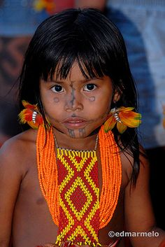 Brazil | a young Karajá indian.