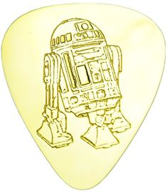 """myLife Hard Luxury """"Round Tip"""" Guitar Pick Made of Genuine Solid Brass {Yellow Gold Colored """"R2-D2 Star Wars"""" - Perfect for Creating Dynamic Tones on Any Type of Acoustic or Electric Guitar} [Single Pack] myLife Brand Products http://www.amazon.com/dp/B00X8T5KMS/ref=cm_sw_r_pi_dp_HRCNvb1H389M8"""