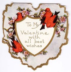 #valentines #heart #greeting #1920's
