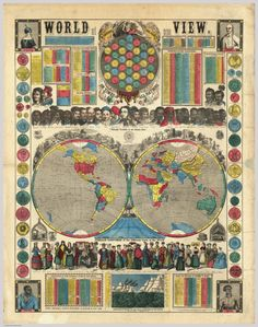 World At One View (1854) | Ensign, Bridgman & Fanning. From the David Rumsey Map Collection.