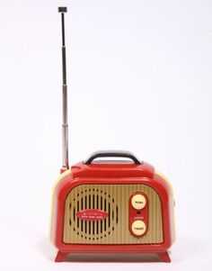 Art Deco Red Bakelite Radio