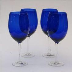Certified International White Wine Stemware (Set of 20 oz, Cobalt Colored Wine Glasses, White Wine Glasses, Cobalt Glass, Cobalt Blue, Cheap Wine, Wine Glass Set, Drinkware, Barware, Kitchen Dining