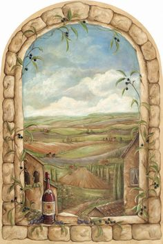 We offer for sale a large selection of Tuscan View Window Mural wallpaper murals, wall murals and photo murals in all sizes. Plus tips on wall mural installation. Mural Painting, Mural Art, Paintings, Wall Stickers Murals, Wall Murals, Wall Decal, Window Mural, Window Poster, Wallpaper Warehouse