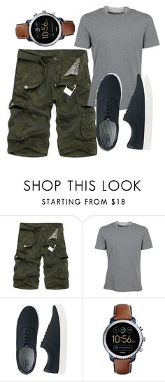 """""""men"""" by madihahnas ❤ liked on Polyvore featuring Brunello Cucinelli, Uniqlo, FOSSIL, men's fashion and menswear"""