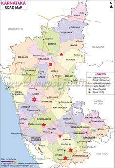 Andhra Pradesh District Map. Political Map of Andhra Pradesh, India ...