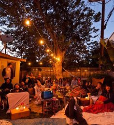 An Outdoor Movie Party Gatherings From The Kitchn   The Kitchn