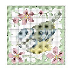 Kreuzstich Small Cross Stitch, Beaded Cross Stitch, Crochet Cross, Cross Stitch Flowers, Filet Crochet, Cross Stitch Designs, Cross Stitch Embroidery, Embroidery Patterns, Cross Stitch Patterns
