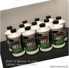 DOT-3 Brake Fluid with 450C Protection #brakes #dot3