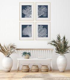 Coral Wall Art, Grey Wall Art, Large Wall Art, Nautical Prints, Nautical Art, Coral Print, Print Print, Teal Walls, Beach Cottage Decor