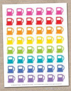 Gas Pumps Planner Stickers Instant Download DIY Printable PDF