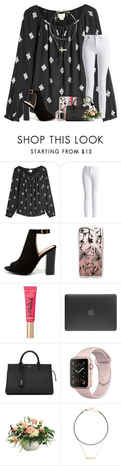 """""""well that ain't my shade of pink"""" by karinaceleste ❤ liked on Polyvore featuring Velvet, Barbour International, Bamboo, Casetify, Too Faced Cosmetics, NARS Cosmetics, Incase, Yves Saint Laurent and LULUS"""