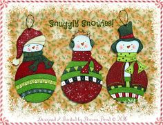 E PATTERN  Snuggle Snowies Designes for ALL 3 Snowies by skb007