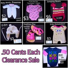 Baby Girl Heaven is making room for more cuteness!  ONLY .50 cents!  See all Sale items here https://baby-girl-heaven.myshopify.com/collections/all?sort_by=price-ascending