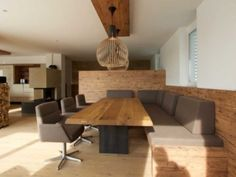 Reconstrucción y rediseño en Linz - Sendlhofer Kitchen Studio y Living Studio, Kitchen Room Design, Studio Kitchen, Banquette Seating, Corner Seating, Interior Architecture, Interior Design, Kitchen Benches, Küchen Design, Industrial Style