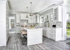 White Kitchen Hardwood Floors unique grey hardwood floor ideas contemporary kitchen design white