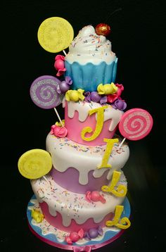 Jill's Candy-centric Cake! by Gimme Some Sugar (vegas!), via Flickr