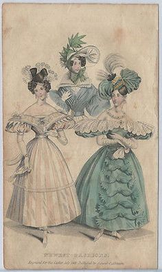 1831 Fashion Engraving - 'Newest Fashions' from Atkinson from The Casket | eBay