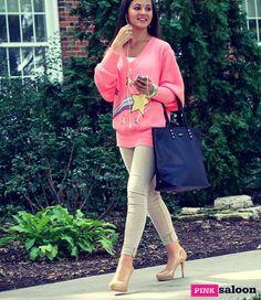 Off to class: Wildfox sweater I Rebecca Minkoff bag I Hudson skinnies #pinksaloon