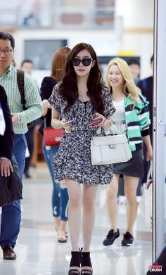 Team ☆ εїз TaeTae εїз (150427 Tiffany @ Gimpo Airport。(via cherry crush))