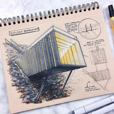 Worked on this sketch with my friend and architect @tmstne last weekend in Atlanta. #architecture #architect #idsketching #sketch #sketching #drawing #illustration #sketchbook #design #industrialdesign #productdesign #