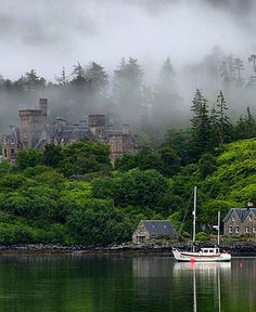 Often referred to as the prettiest village in Scotland, #Plockton, population 378, is on the shore of Loch Carron.
