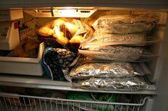 Recipes for Freezer Meals: Chicken & Black Bean Chili, Chicken Spaghetti, Chicken Enchiladas, Chicken Rice Wraps, Spaghetti Sauce, Baked Ziti, Pulled Pork, Peanut Butter Chocolate Chip Muffins, Pineapple Muffins, Blueberry Muffins, Breakfast Burritos & Banana Nut Muffins,