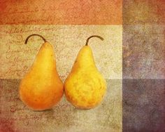 Title  Two Pears   Artist  Terry Fleckney   Medium  Photograph - Photography/digital Art