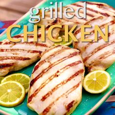 Ree marinates chicken breasts for roughly 24 hours in a simple yet fragrant mixture of olive oil, lemon juice, Dijon, honey and salt. This juicy Grilled Chicken recipe will be a hit at your next cookout. Weight Loss Tea, Weight Loss Shakes, Healthy Weight Loss, Juicy Grilled Chicken Recipe, Marinated Chicken, Grilling Recipes, Cooking Recipes, Healthy Recipes, Acai Berry Weight Loss