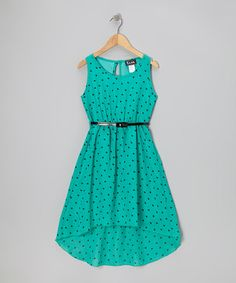 Take a look at this Mint Heart Hi-Low Dress - Girls by Btween on #zulily today!