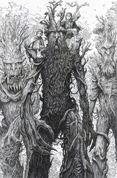 Fan art pen and ink illustration (crosshatch technique). Hobbit Art, O Hobbit, Mythological Creatures, Fantasy Creatures, 4k Photography, Lord Of The Rings Tattoo, Ring Sketch, Jrr Tolkien, Middle Earth
