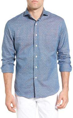 New England Shirt Co. Regular Fit Jacquard Sport Shirt