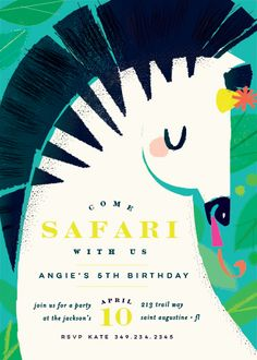 birthday party invitations - Let's Safari by Lori Wemple