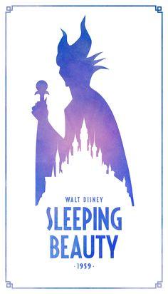 Sleeping Beauty Classic Disney Movie Posters - Created by Keith Bogan Disney Magic, Disney Amor, Disney Love, Disney Movie Posters, Film Disney, Disney Pixar, Disney Fantasy, Disney Minimalista, Disney Sleeping Beauty