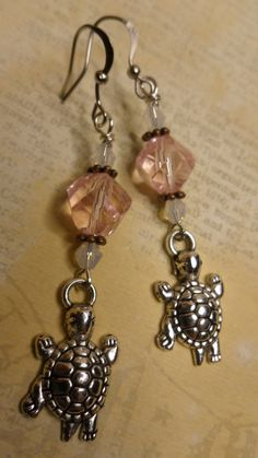 Adorable Silver Turtle Charm Earrings by ArtisticDesignsKS on Etsy, $5.99