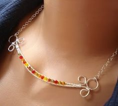 bead and wire jewelry ideas - @ julie!! This would be cute ##Thank you, thank you Kristen!! Love it!