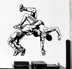 Wall Sticker Sport Wrestling Fighting Fighter Martial Arts Vinyl Decal (z3017)