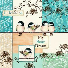 birds - color patch background 3