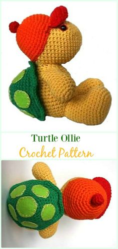 Amigurumi Turtle Ollie Crochet Pattern - #Crochet; #Turtle; Amigurumi Toy Softies Free Patterns