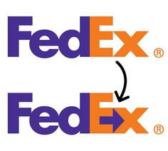 LePage- logos and logotypes- FedEx- FedEx's logo is one of the most successful uses of plain typography in the graphuc design world due largely in part to the arrow the capital E and lowercase x make