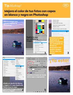 El paso a paso para mejorar el color de tus fotos con capas en blanco y negro en #Photoshop #trucos #tips #edicion