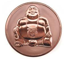 budda coins | Mi Moneda Rose Gold Plated Buddha-Buddha Coin at John Greed Jewellery