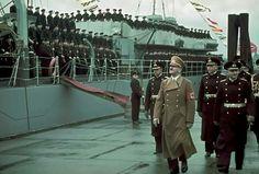 Adolf Hitler inspecting German Navy, 1940