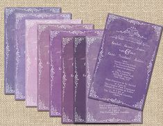 Purple Wedding Invitations for Autumn Weddings / by TheRocheShop