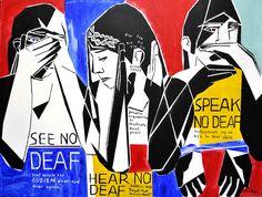 "#Deaf_Artists: #NancyRourke ""See Hear Speak No Deaf"""