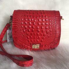 Brahmin Sonny Crossbody Bag Carnation Red Melbourne Leather  | eBay