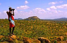 A walking safari in Kenya